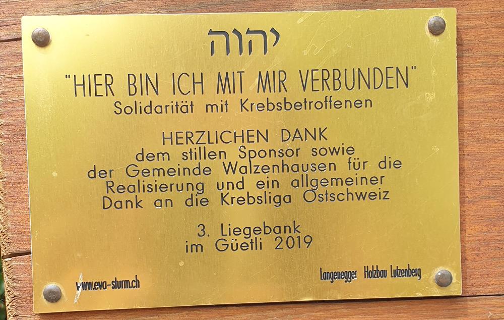 3. Liegebank Güetli Walzenhausen