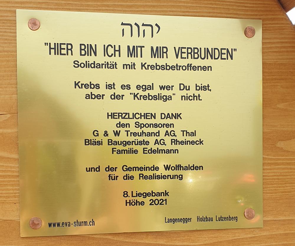 8. Liegebank Höhe, Wolfhalden