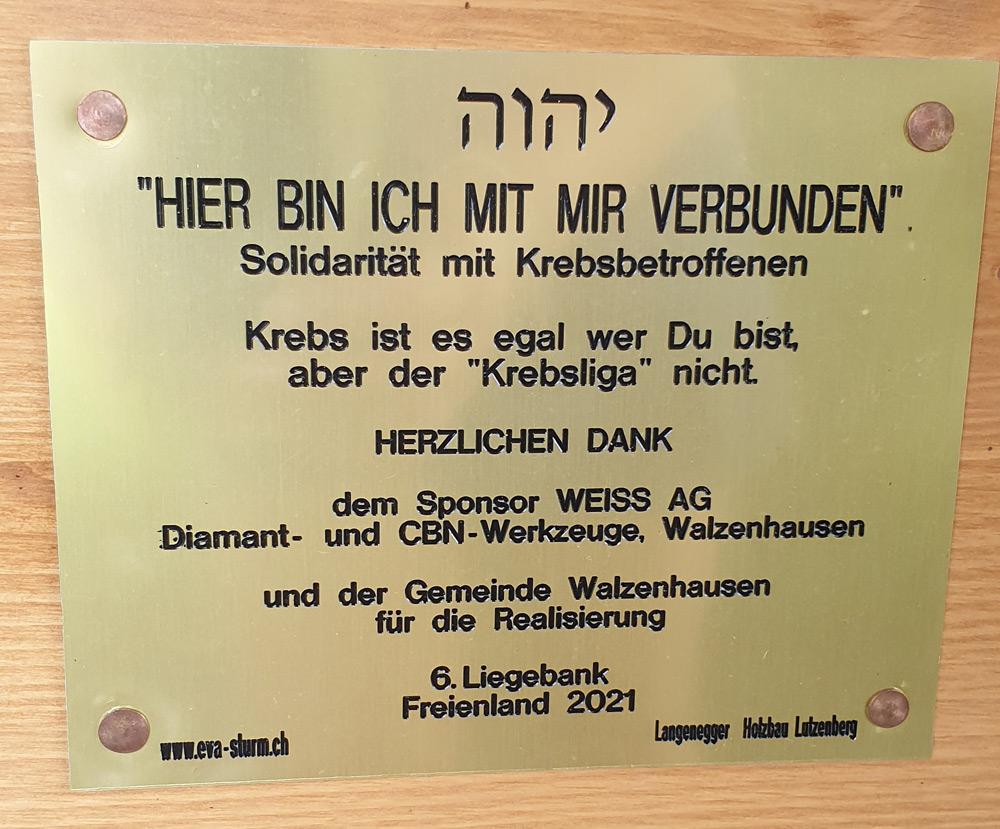 6. Liegebank Freienland Walzenhausen