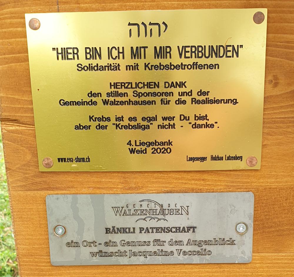 4. Liegebank Weid Walzenhausen